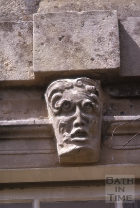 Mask above windows, Rock House, Bathford 1964