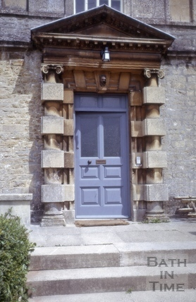 Front door, Eagle House, Batheaston 1965