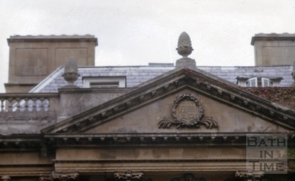 Detail of pediment, Titan Barrow, Bathford 1964