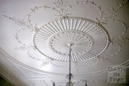 Drawing room ceiling plaster, Titan Barrow, Bathford 1964