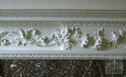 Dining room mantelpiece detail, Titan Barrow, Bathford 1964