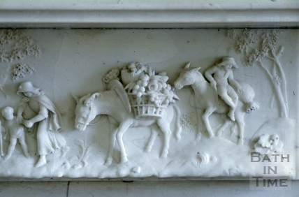Drawing room, mantelpiece detail, Titan Barrow, Bathford 1964