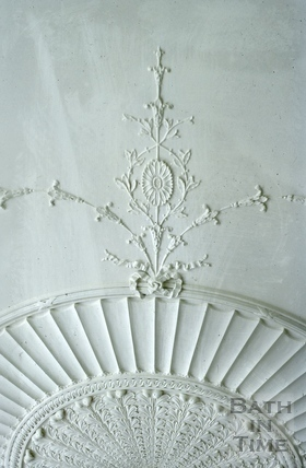 Drawing room ceiling plaster detail, Titan Barrow, Bathford 1964