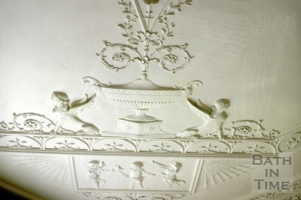 Dining room ceiling plaster, Titan Barrow, Bathford 1964
