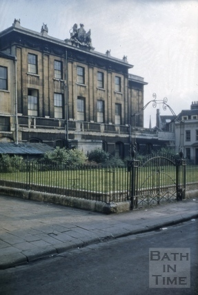 Theatre Royal from Beauford Square, Bath 1956
