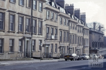 South side, Bennett Street, Bath 1979