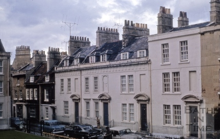 North side, Beauford Square, Bath 1966