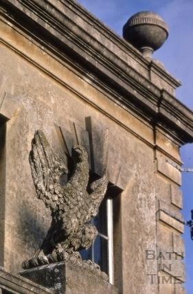 Eagle detail, Westfield House, Bloomfield Road, Bath 1971