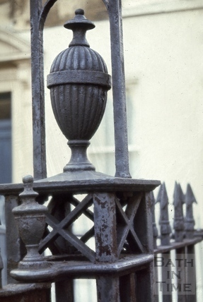 Beauford Square ironwork detail of gateway to Theatre Royal, Bath 1967