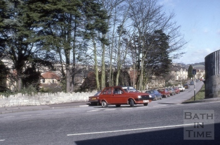 Beckford Gardens from Beckford Road, Bath 1987