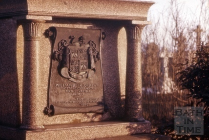 William Beckford's tomb in Lansdown Cemetery, Bath 1965?