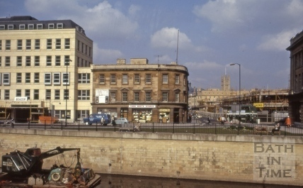East end of Broad Quay, Bath 1973