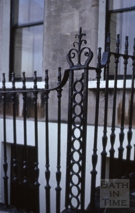 Railings detail, Camden Crescent, Bath 1965