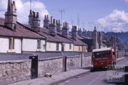 Rear of houses, Calton Road, Bath 1963