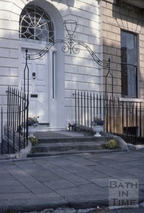 Doorway, 1, Cavendish Place, Bath 1975