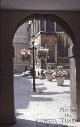 Cross Bath entrance, Chapel Court, Bath 1981