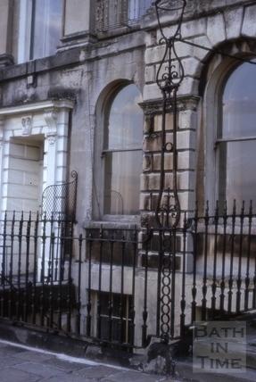 Iron lampholder, 16, Camden Crescent, Bath 1965