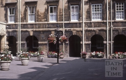 East side, Chapel Court, Bath 1984
