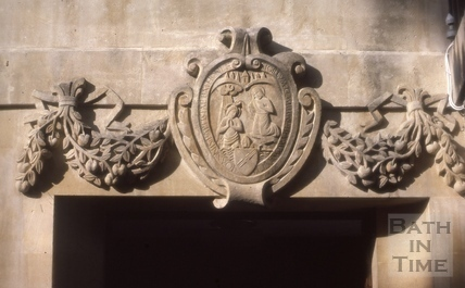 Doorway with John the Baptist, Chapel Court, Bath 1986