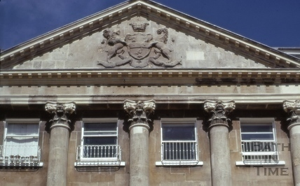 Detail of pediment, Camden Crescent, Bath 1974