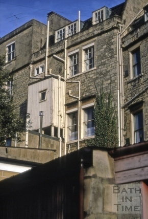 Additions to rear of Camden Crescent, Bath 1970