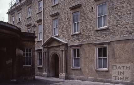Cross Bath entrance, Chapel Court, Bath 1983
