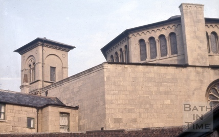 Elim Pentecostal Church (Percy Chapel) from the rear, Charlotte Street, Bath 1966