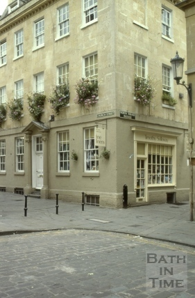 Corner of Church Street and North Parade Passage, Bath 1980