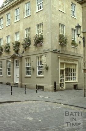 Corner of Church Street and North Parade Passage, Bath 1980