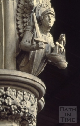 St. Michael on south arcade, St. Mary's Church, Julian Road, Bath 1966