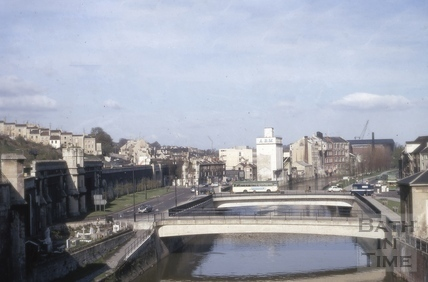 Churchill Bridge, Bath 1970
