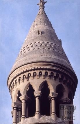 Detail of turret, Manvers Street Baptist Chapel, Manvers Street, Bath 1966