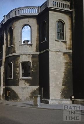 North west wall, St. James's Church, Bath 1956