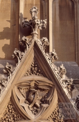 Detail of west doorway, St. John's Church, South Parade, Bath 1966