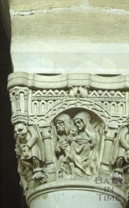 Carved capital, St. Alphege's Church, Oldfield Park, Bath 1965