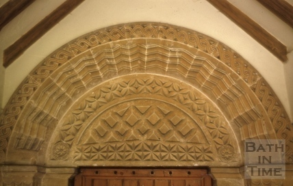 Recarved tympanum, St. James's Church, South Stoke 1970
