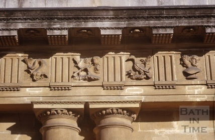 Restored metopes, The Circus, Bath 1964