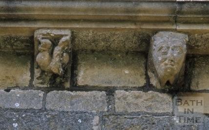 Corbel stones, St. Peter's Church, Englishcombe 1970