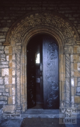 Norman Doorway, St. Michael's Church, Twerton, Bath 1970
