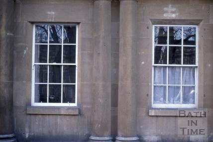 Ground floor original windows, The Circus, Bath 1979