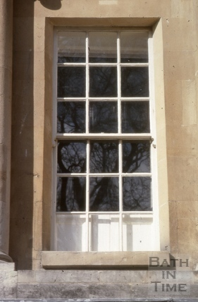Lowered windows with extended shutters, The Circus, Bath 1979