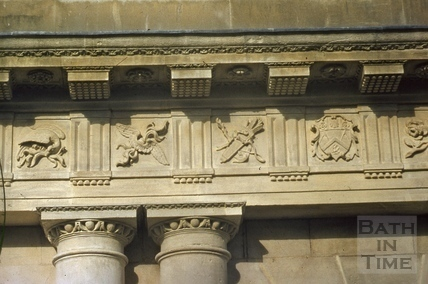 Restored metopes, The Circus, Bath 1957