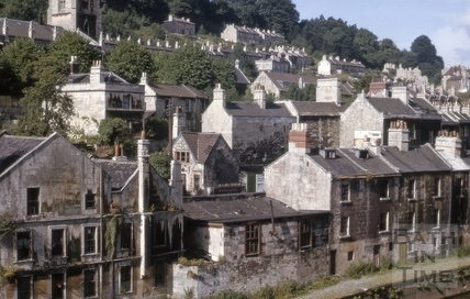 Rear of Claverton Street, Widcombe, Bath 1964