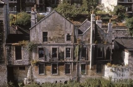 Rear of Cold Bath House, 26, Claverton Street, Widcombe, Bath 1964