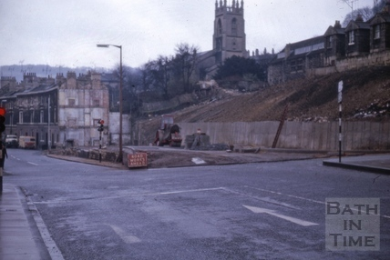 Claverton Street and clearance of Holloway, Widcombe, Bath 1964