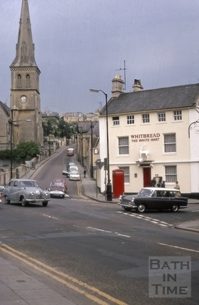 Widcombe Hill from Sussex Place, Widcombe, Bath 1969