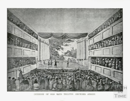 Interior of the Old Bath Theatre, Old Orchard Street, Bath