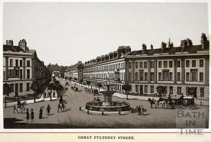 Great Pulteney Street, Bath 1880s
