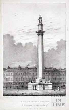 The proposed column, to be erected in the centre of Laura Place, Bath c.1832