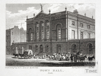 The Guildhall, High Street, Bath 1823